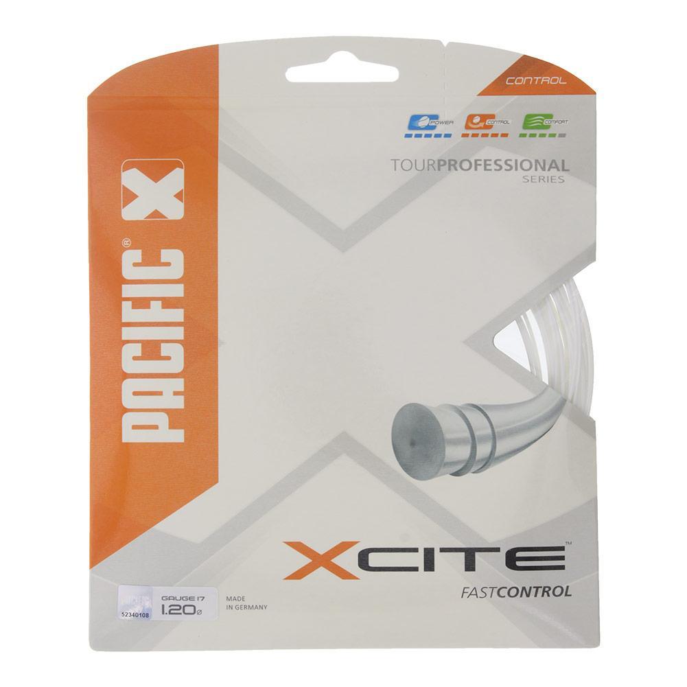 X Cite 18g Tennis String White