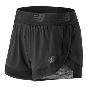 Women`s Transform 2 In 1 Tennis Short Black