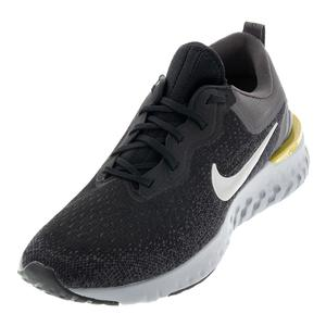 Men`s Odyssey React Running Shoes Black and Metallic Pewter