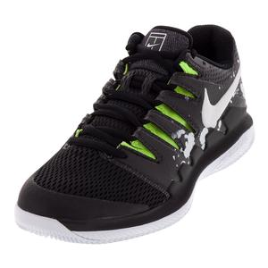Men`s Court Air Zoom Vapor X Premium Tennis Shoes Black and White