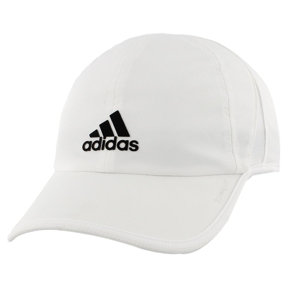 Men's Superlite Tennis Cap White And Black