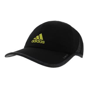 Men`s SuperLite Tennis Cap Black and Dark Heather Gray