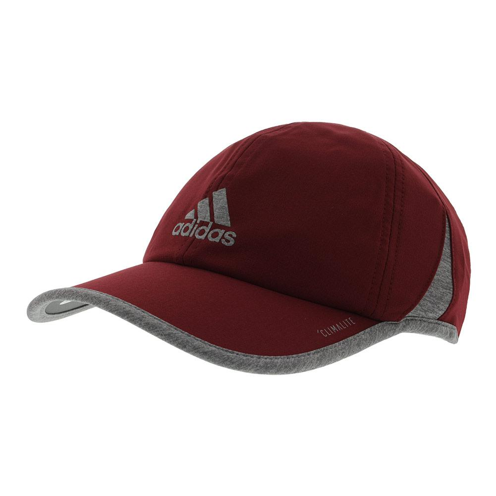 Men's Superlite Tennis Cap Noble Maroon And Light Heather Gray