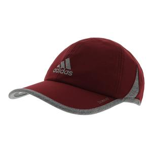 Men`s SuperLite Tennis Cap Noble Maroon and Light Heather Gray