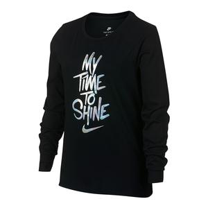 Girls` Shine Long Sleeve Sports Tee