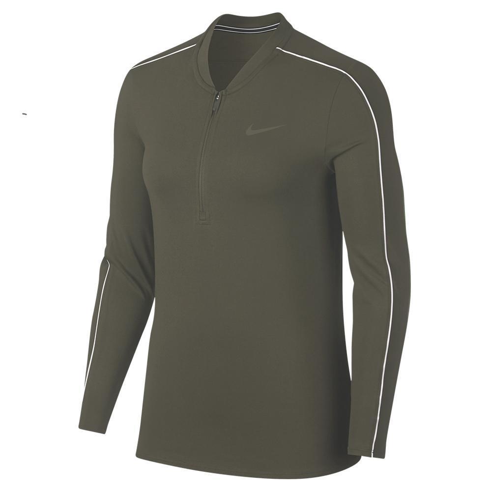 fda0255c Nike Women's Court Dry Half Zip Long Sleeve Tennis Top