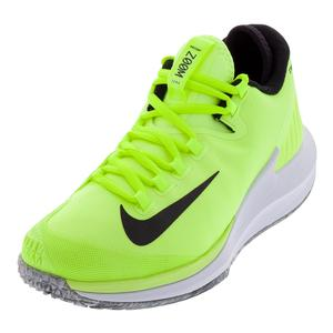 Men`s Court Air Zoom Zero Premium Tennis Shoes Volt Glow and Black