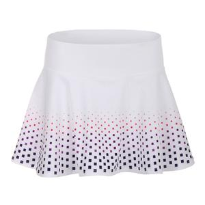 Women`s Highline 13 Inch Tennis Skort White Geo Print