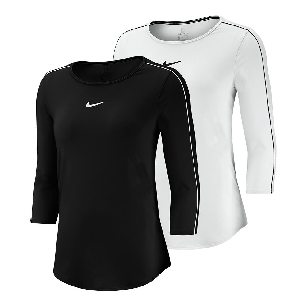 d792ad93 Nike Women's Court 3/4 Sleeve Tennis Top