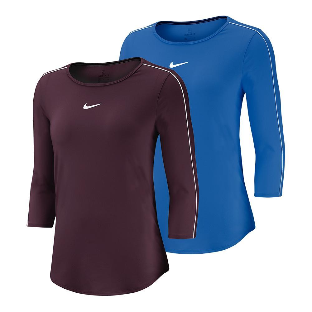 52e693ace3d Nike Women s Court 3 4 Sleeve Tennis Top