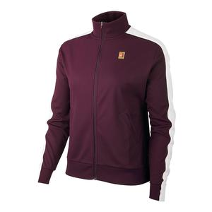 Women`s Court Warm Up Tennis Jacket Bordeaux