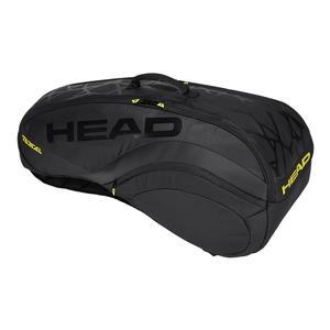 Radical Limited 6R Combi Tennis Bag Black with Yellow Pop