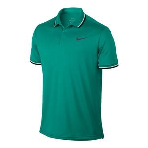 Men`s Court Solid Dry Tennis Polo Neptune Green