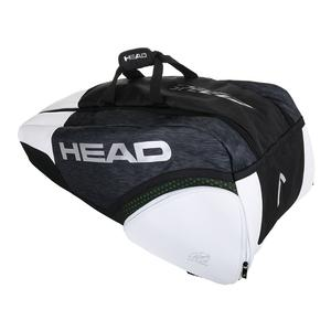 Djokovic Supercombi Tennis Bag Black and White