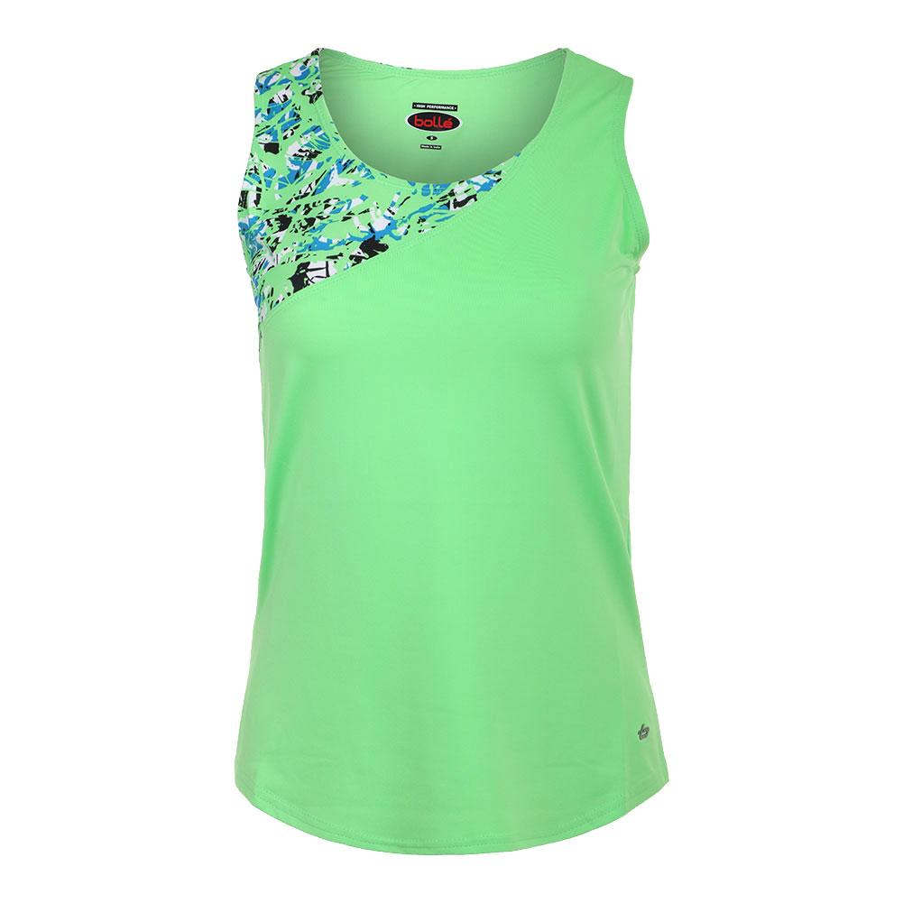 Women's Painter's Palette Tennis Tank Green