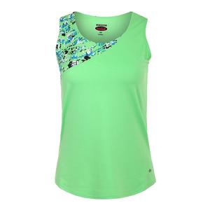 Women`s Painter`s Palette Tennis Tank Green