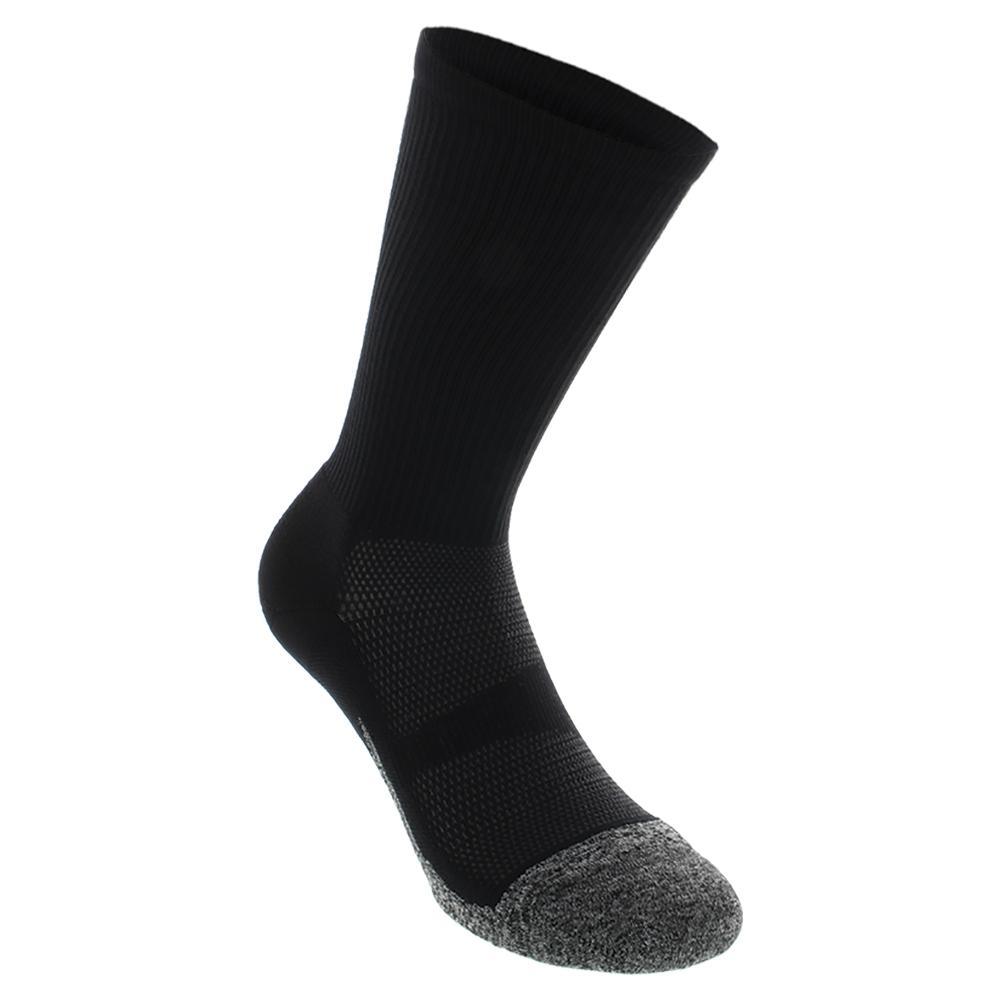 Elite Light Cushion Mini Crew Tennis Socks Black
