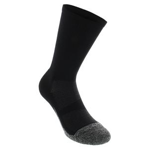 Elite Light Cushion Mini Crew Tennis Socks Black