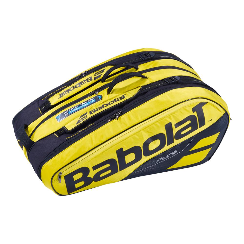 2019 Pure 12 Pack Tennis Bag Yellow And Black