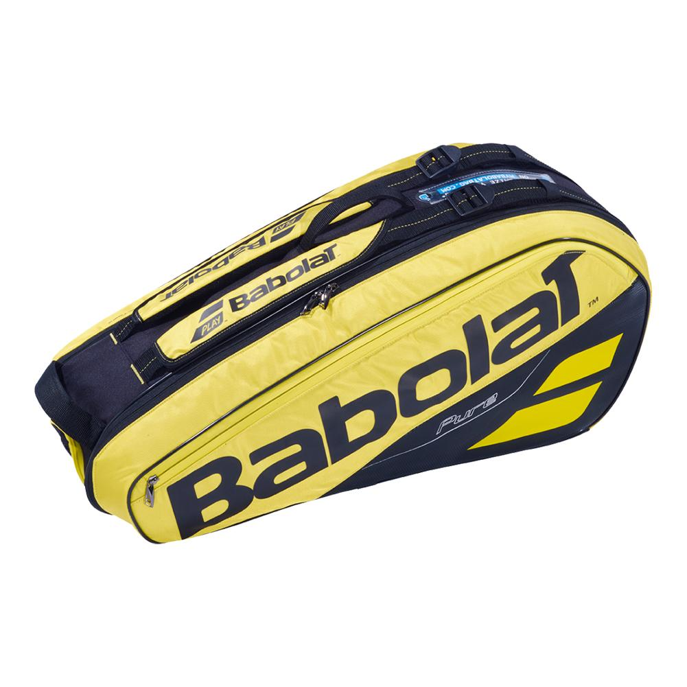 2019 Pure 6 Pack Tennis Bag Yellow And Black