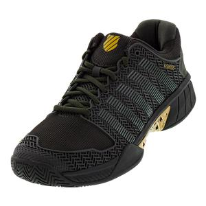Men`s Hypercourt Express Tennis Shoes Black Ink and Gold