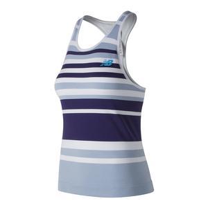 Women`s Tournament Seamless Tennis Tank Ice Blue and Wild Indigo