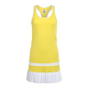 Women`s Argyle Pleated Tennis Dress Aurora and White