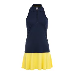 Women`s Argyle Tennis Polo Dress Navy and Aurora