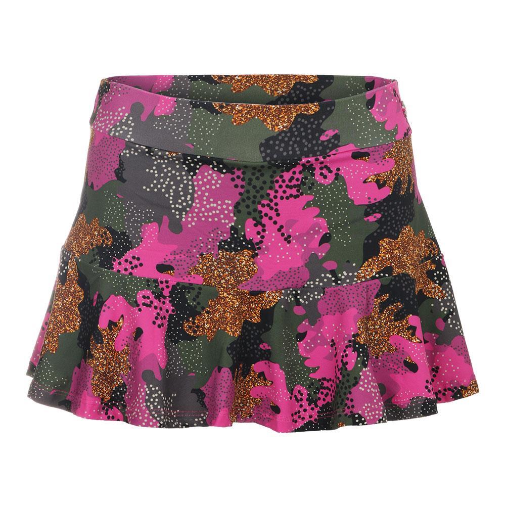 Women's Camo Full Tennis Skirt Pink Print