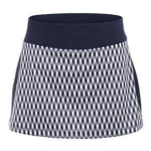 Women`s Argyle Team 13.5 Inch Tennis Skort Navy Print
