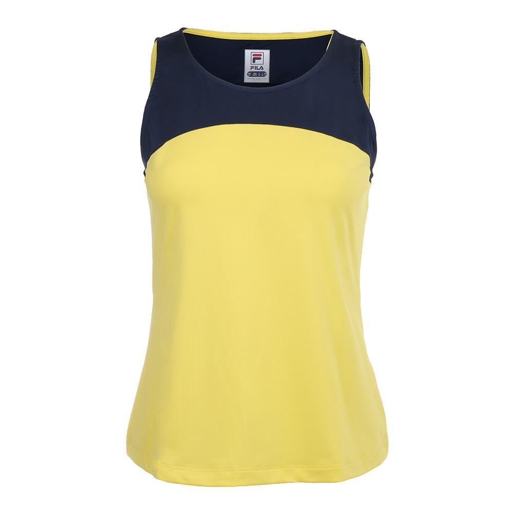 72b2dc20ab FILA - Women`s Argyle Sleeveless Tennis Tank Aurora and Navy ...