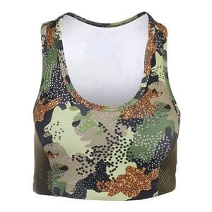 Women`s Poise Tennis Bra Green Camo Print