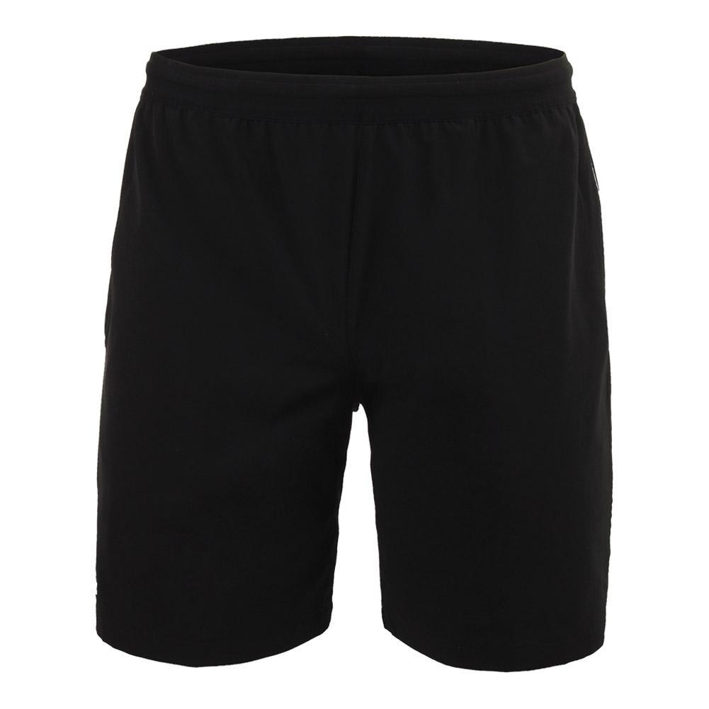 4ac7b321c Men`s Novak Djokovic 7 Inch Stretch Woven Tennis Short 258 BLACK WHITE