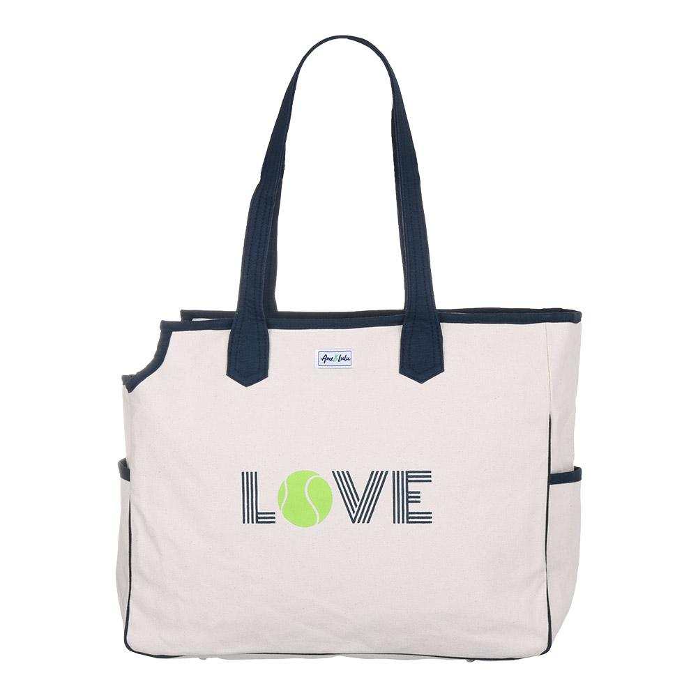 Women's Love All Green Love Tennis Court Bag Cream