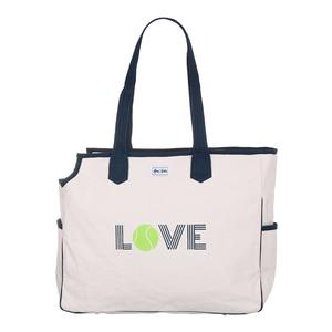 Women`s Love All Green Love Tennis Court Bag Cream