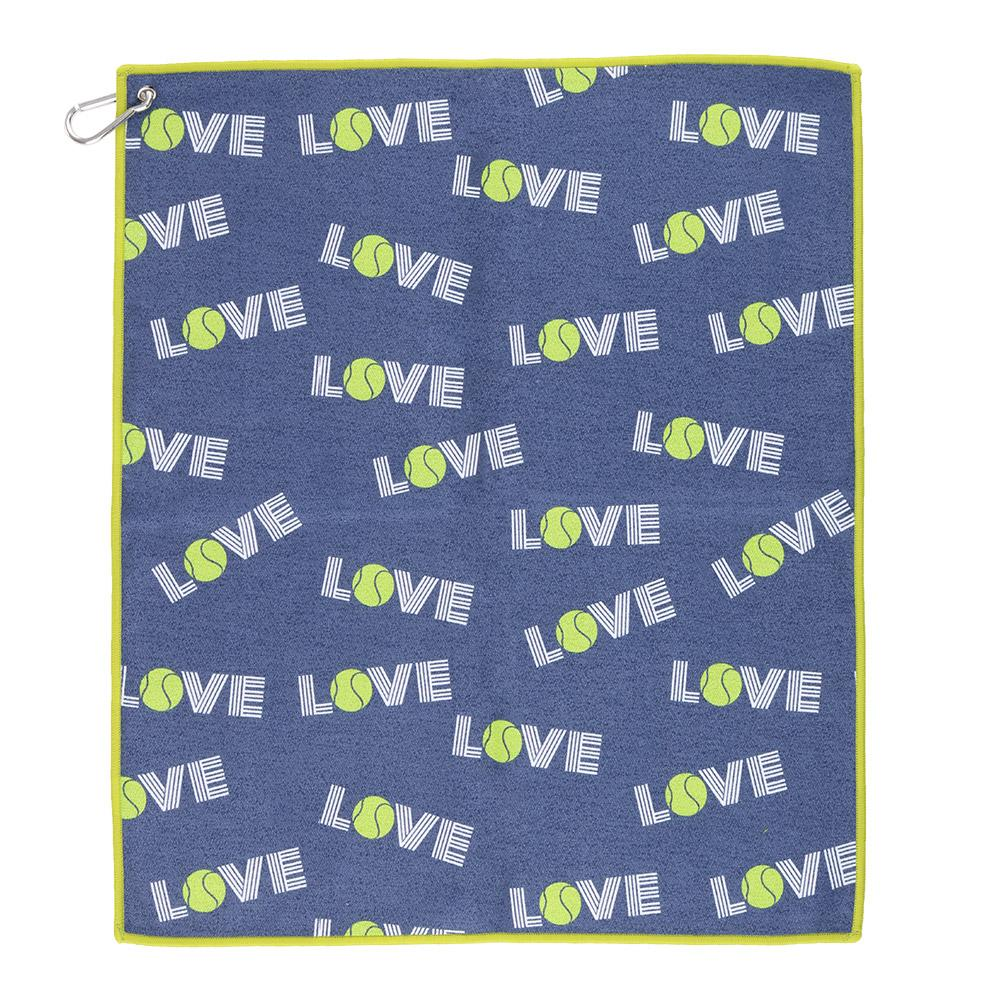 Women's Green Love Tinsley Tennis Towel