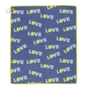 Women`s Green Love Tinsley Tennis Towel