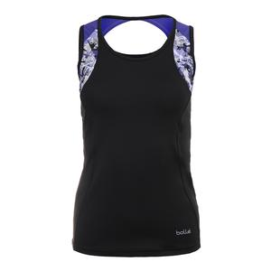 Women`s Purple Passion Tennis Tank Black