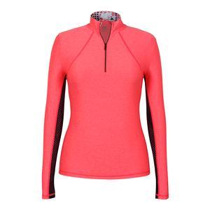 Women`s Chase Long Sleeve Tennis Top Laser Pink