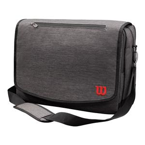 Traveler Messenger Tennis Bag Gray and Red