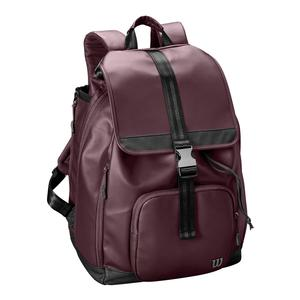 Women`s Fold Over Tennis Backpack Purple