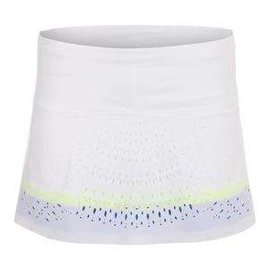 Women`s Laser Medallion Tennis Skort White