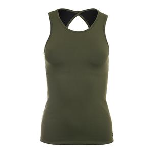 Women`s Poise Tennis Tank Army Green