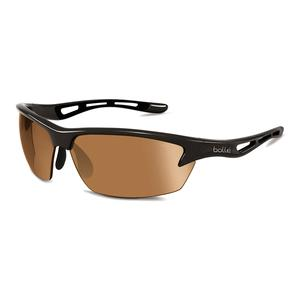 Bolt Sunglasses Shiny Black and Phantom Brown Gun