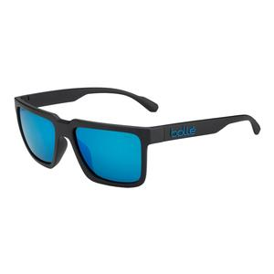 Frank Polarized Sunglasses Matte Black and Offshore Blue