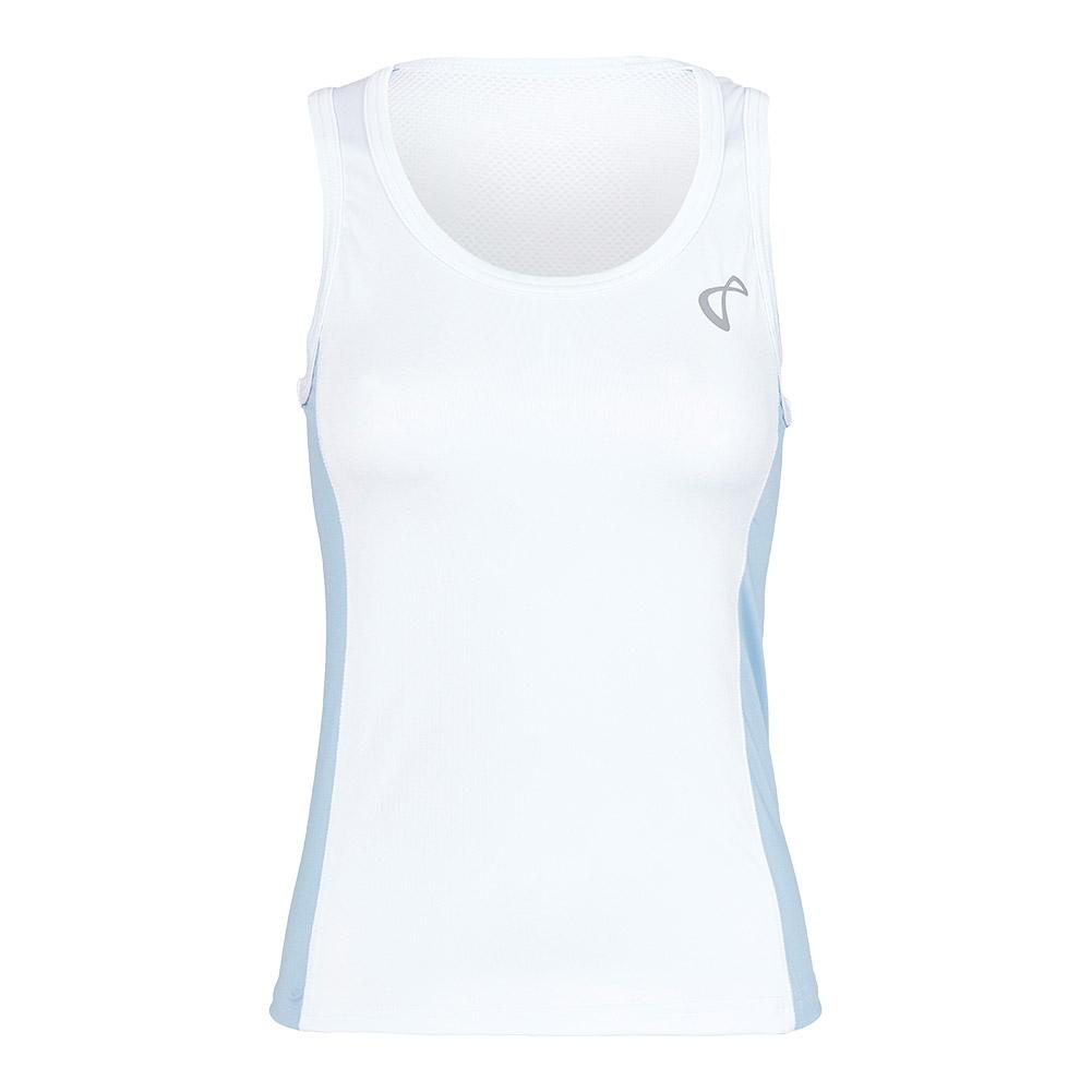 Women's Breeze Tennis Tank White And Arctic