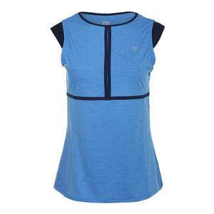 Women`s Volley Cap Sleeve Tennis Top Marine