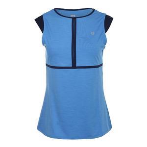 Women`s Volley Cap Sleeve Tennis Top Marine