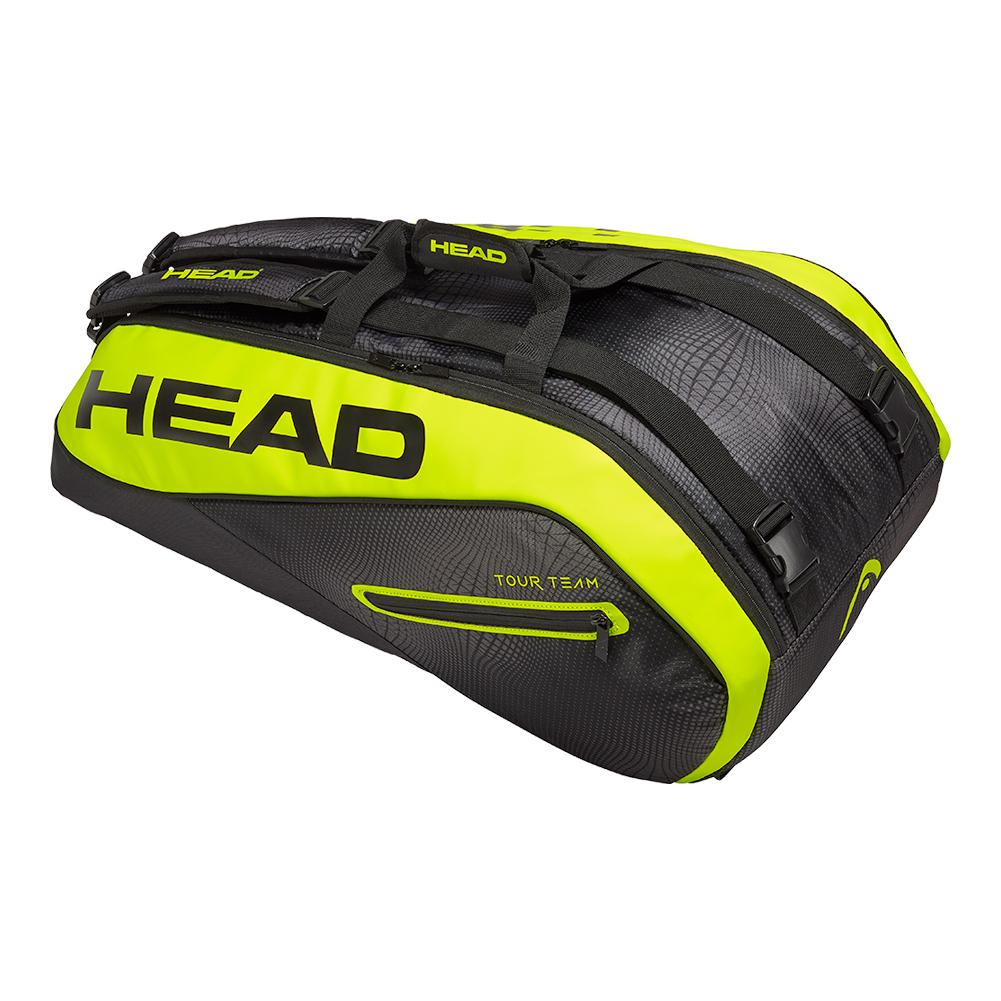 Extreme 9r Supercombi Tennis Bag Black And Neon Yellow