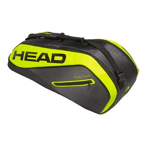 Extreme 6R Combi Tennis Bag Black and Neon Yellow